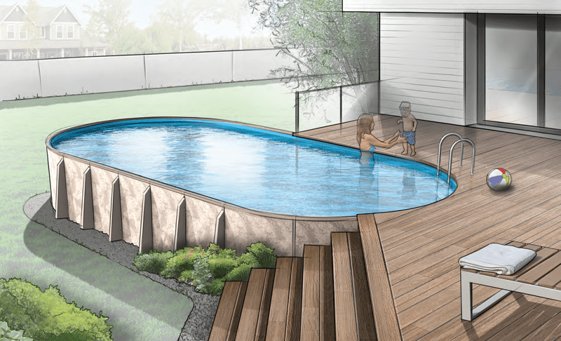 Optimum Hybrid Pools: Oval